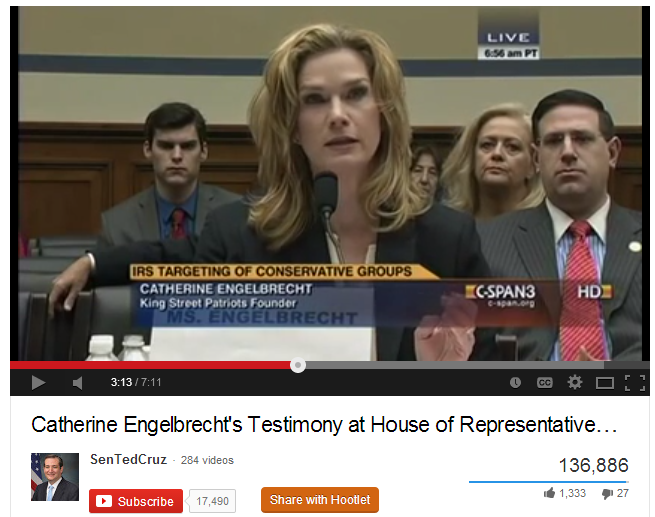 Catherine Englebrecht: testimony before Congress on IRS Targeting